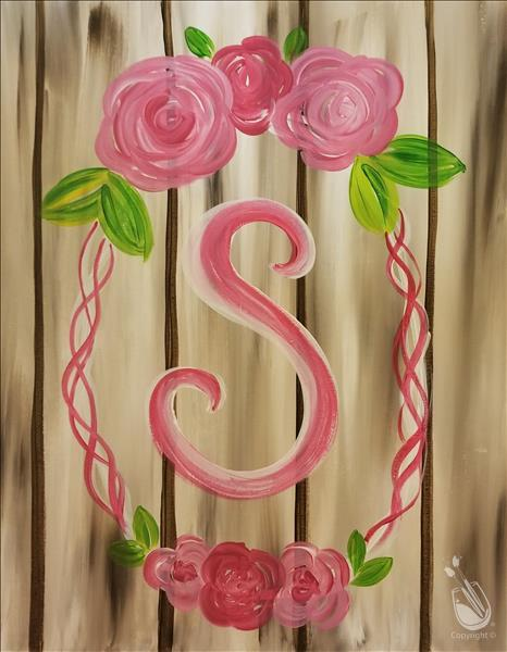 How to Paint New Art! Simple Monogram Wreath
