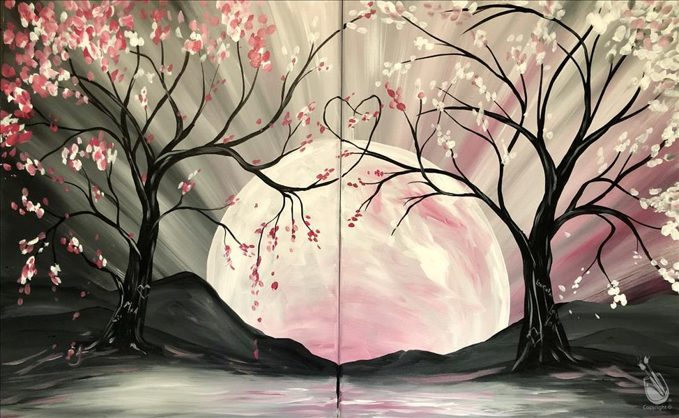 How to Paint Moon River Love - DOUBLE PAINTING!