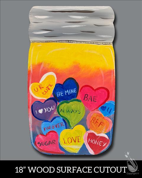 Candy Heart Jar! on Cutout {Age 12+