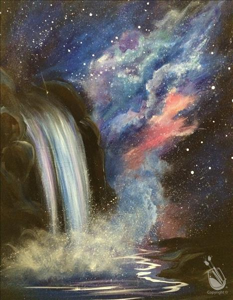 How to Paint Cosmic Waterfall (Adults 18+)