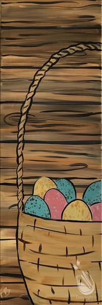 Tall Rustic Easter Basket  10x30 canvas