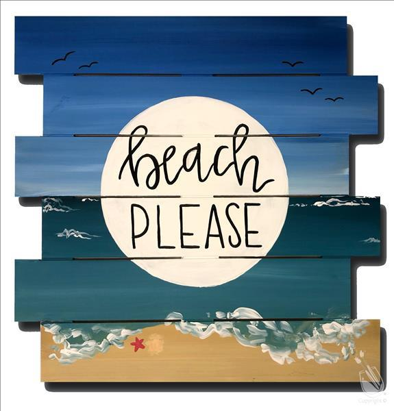 Beach Please! Customize Your Words & Font!