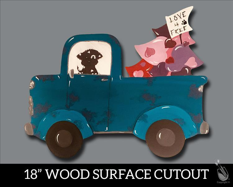 Puppy Love Truck on Cutout {ONLY 12 SEATS