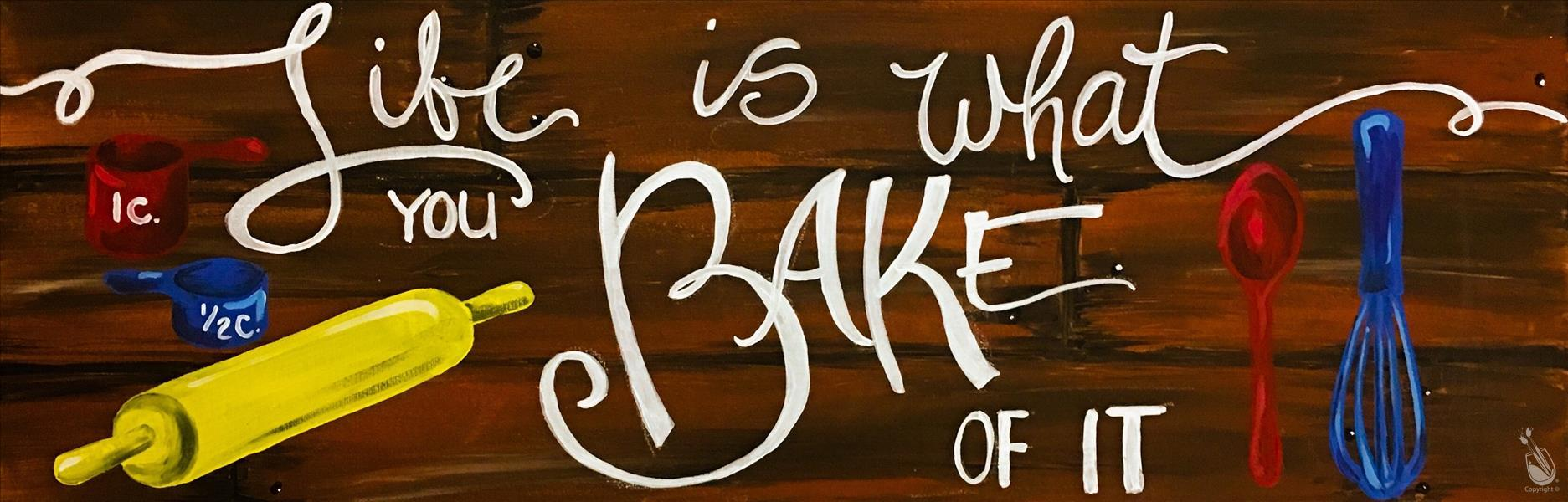 "Bake Something (30""x10"" Canvas)"
