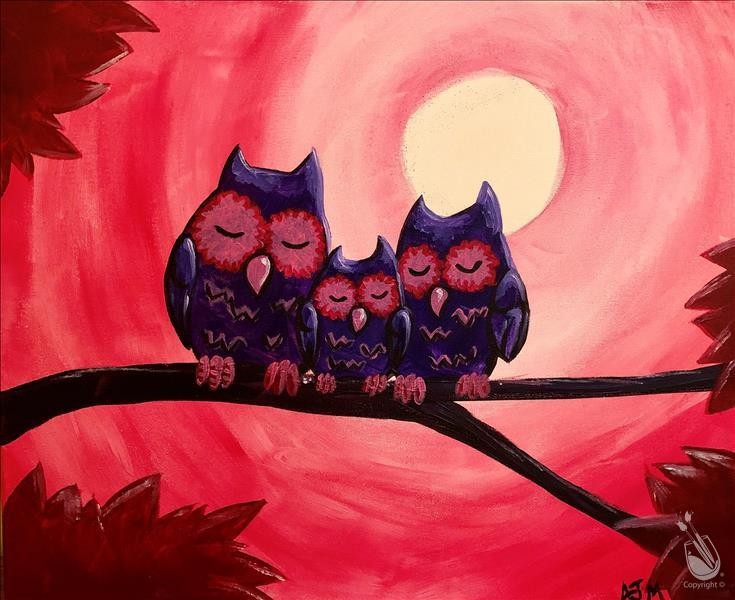 How to Paint Love Owls  (All Ages) Public