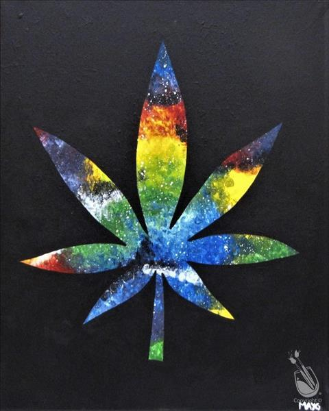 Happy 4/20- Galaxy Leaf