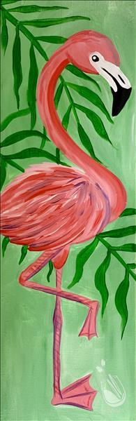 Flamingo Love 10x30 canvas