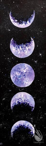 Lunar Love Moon Painting