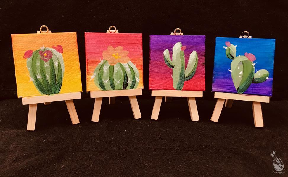 Cactus Mini Easel Set