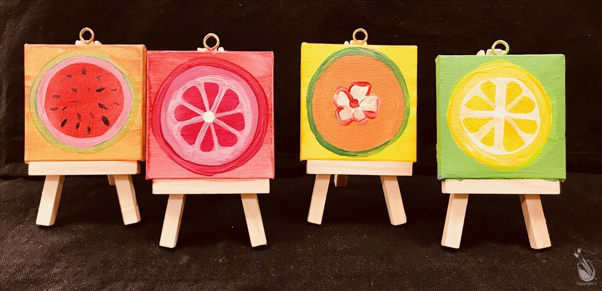 Fruit Mini Easel Set