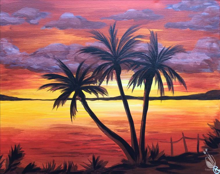 **Copper Sunset on the Beach**