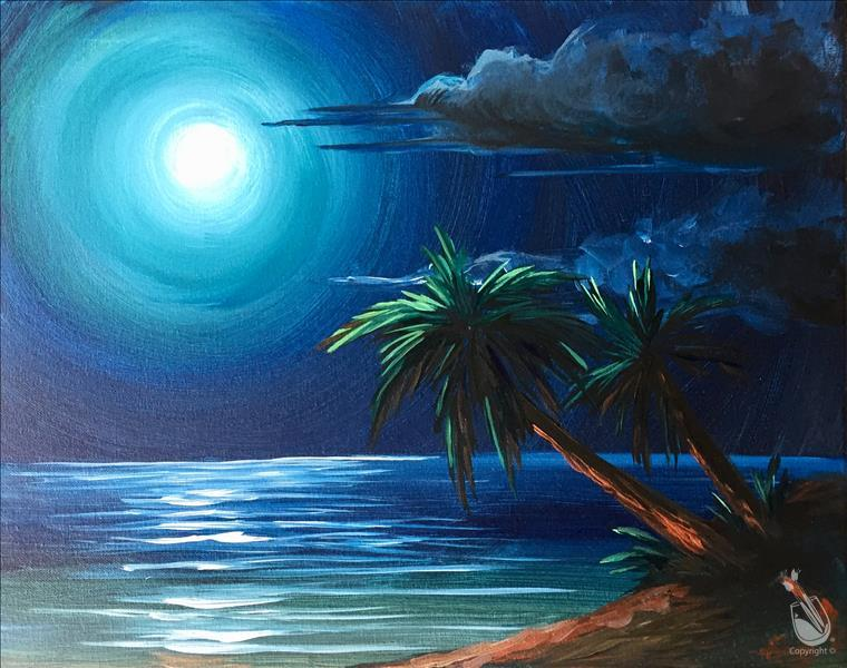 How to Paint Mystic Beach in the Moonlight