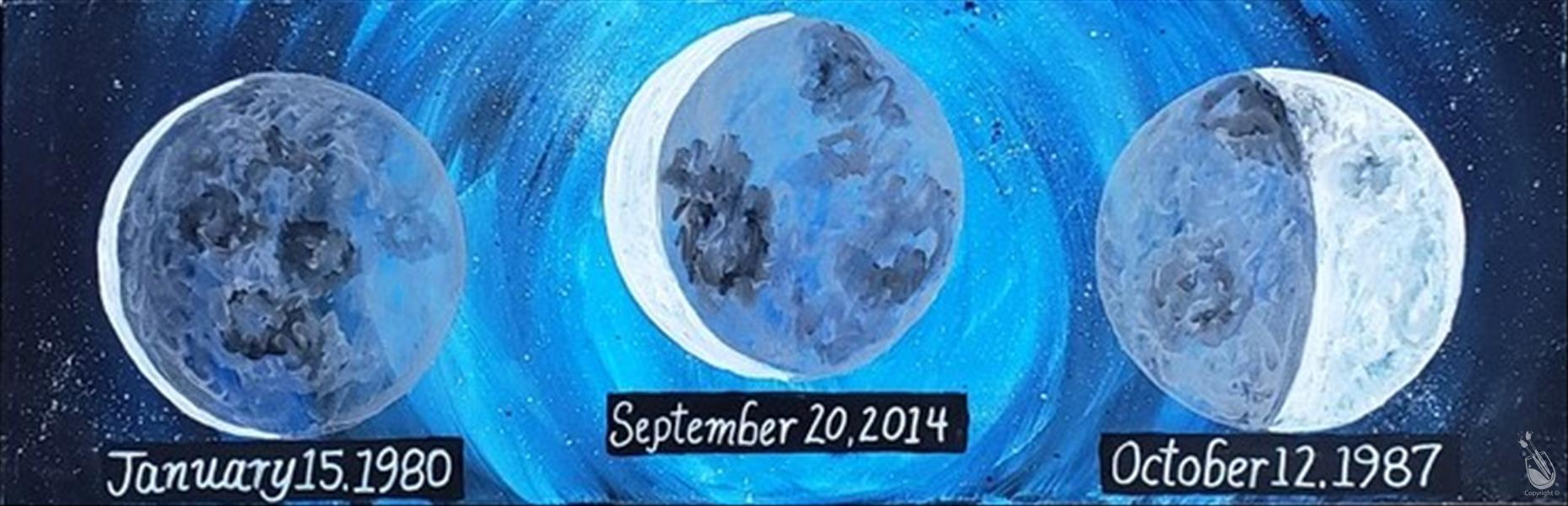 How to Paint Personalize! Moon Dates (2.5hr)