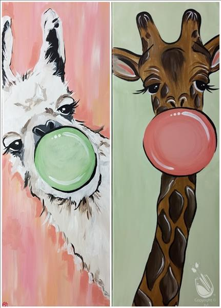 $10 Bottomless Mimosas! Bubblegum Llama or Giraffe