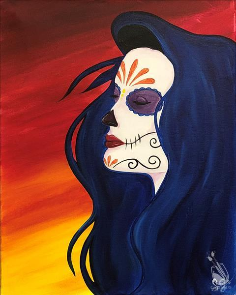 Sugar Skull Sunset - In Studio Class