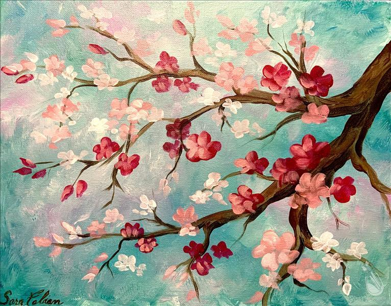Cheery Blossoms - Art in the Afternoon - In Studio