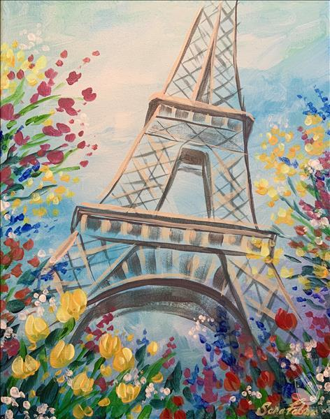 Paris in Springtime with Flowers Virtual Live!