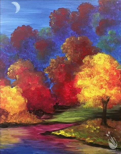 How to Paint Open Class - Stunning Fall Trees