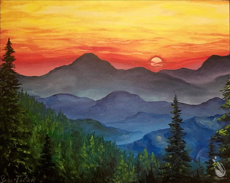 How to Paint VIRTUAL Blue Ridge Mountains