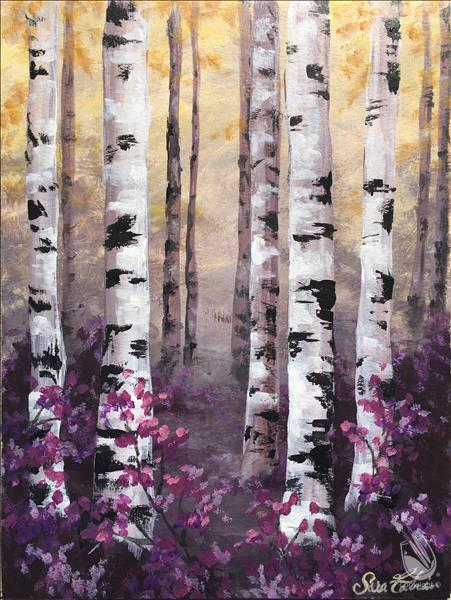 How to Paint NEW! - Purple Birch