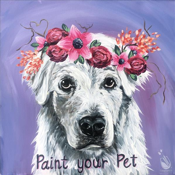 Flower Crown Paint Your Pet 12x12