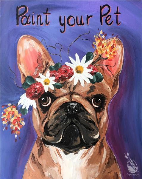 Flower Crown Paint Your Pet -Flower Crown Optional