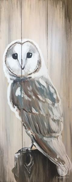 How to Paint Rustic Barn Owl Real Wood Board