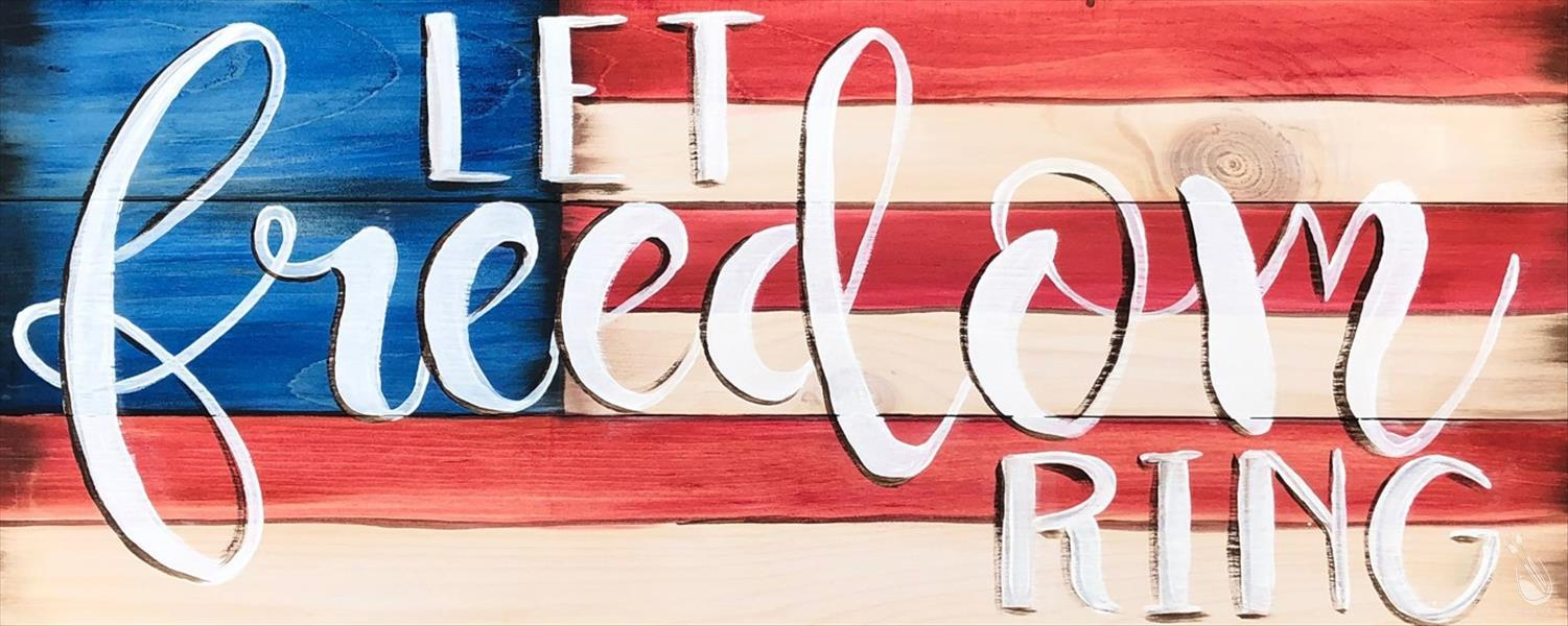 Let Freedom Ring Wood Pallet Board