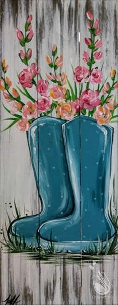 How to Paint Rustic Rain Boots Real Wood Board