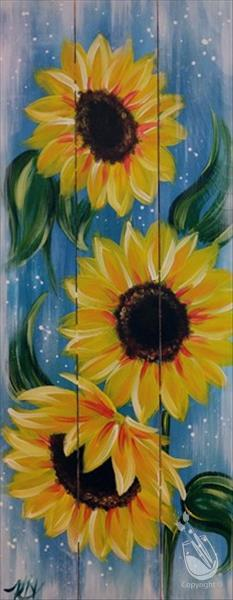 SUNFLOWERS ON WOOD**Public Event**
