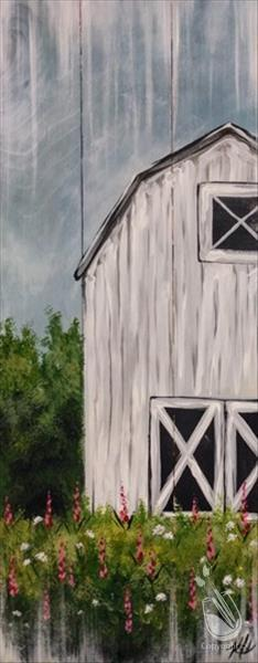 How to Paint Rustic White Barn Real Wood Board