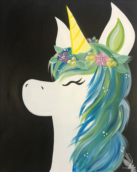 How to Paint Flower Crown Unicorn II