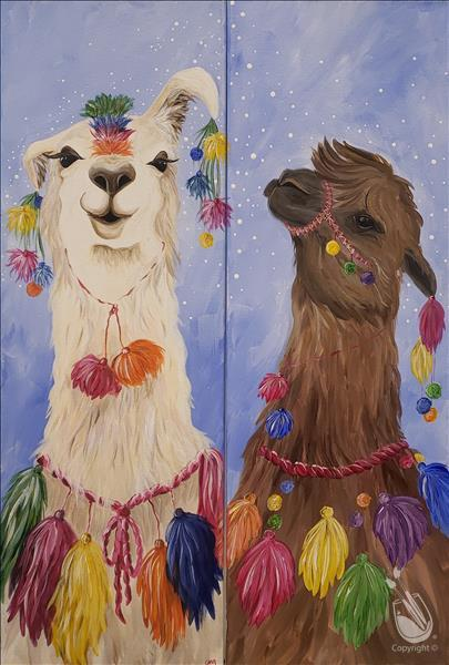 How to Paint (PRIVATE) Llama Paint Party