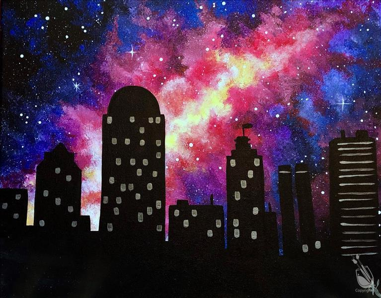 How to Paint Cosmic Skyline (CUSTOMIZE YOURS!)