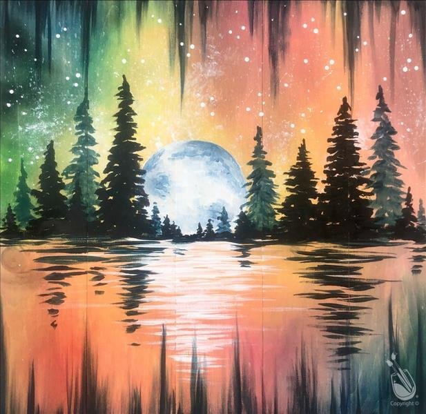 How to Paint Galactic Moon! Couples & BFF night out!