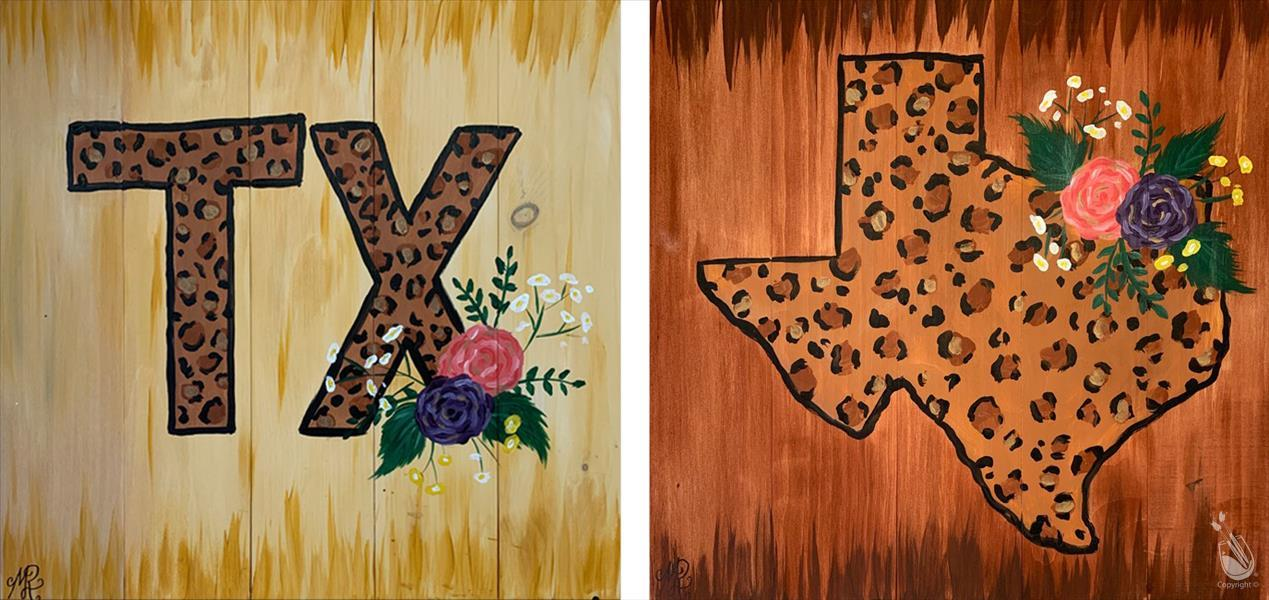 How to Paint Chic Tx Set or Pick ONE, Real Wood Board