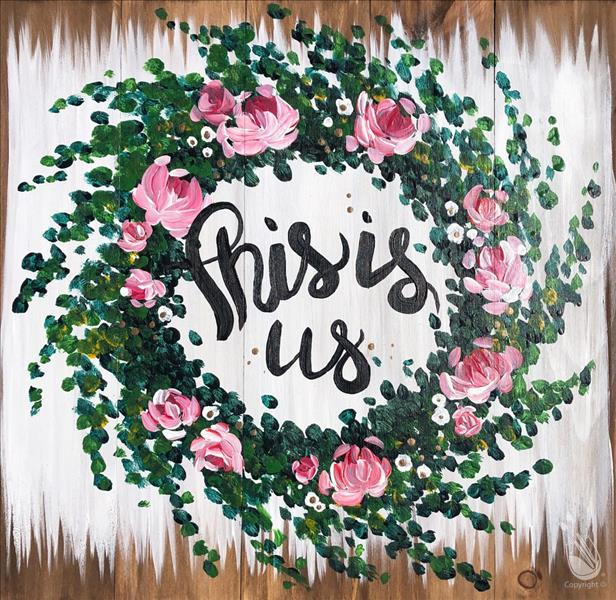 Rustic Quote - This is Us or Personalize