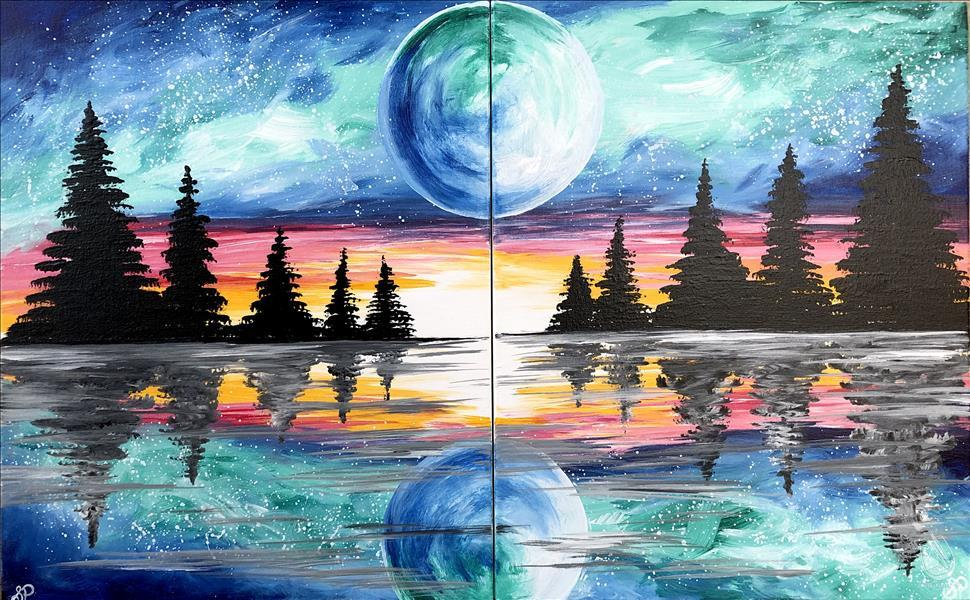 Celestial Moon ~ Couples Painting