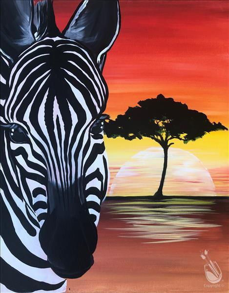Zebra Sunset (Ages 15+)