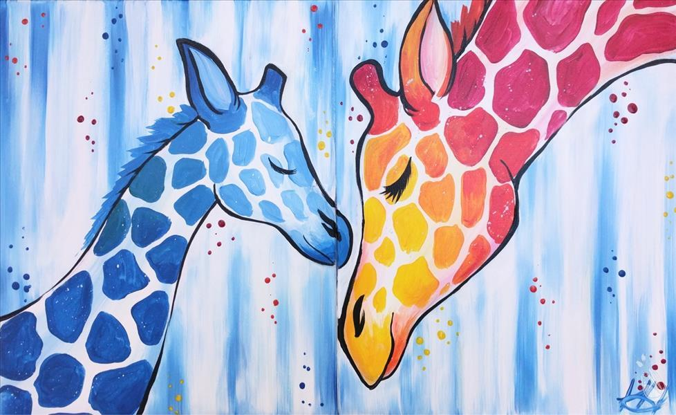 Mommy and Me Giraffes - You paint half!