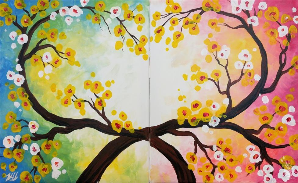 How to Paint Spring Love Branches - Set