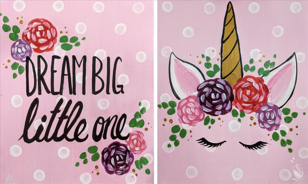 How to Paint Dream Big Little Unicorn! {Set or Pick One