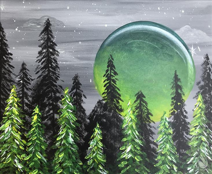 How to Paint Emerald Moon Forest