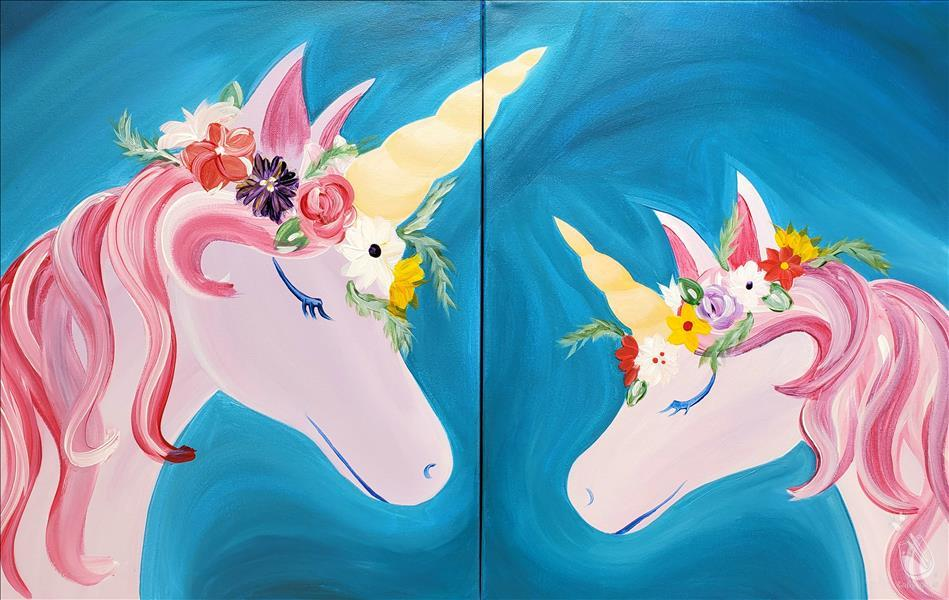 Flower Crown Unicorn (Set) - In Studio Class!