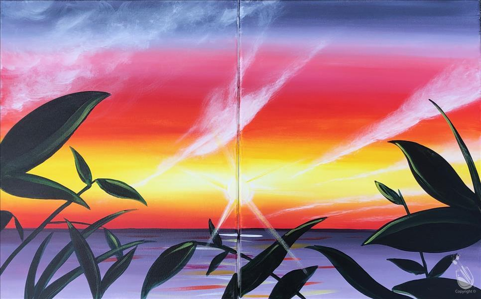 Vibrant Tropical Sunset - Set