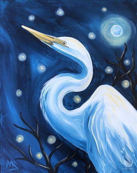 NEW Art! The Night Egret