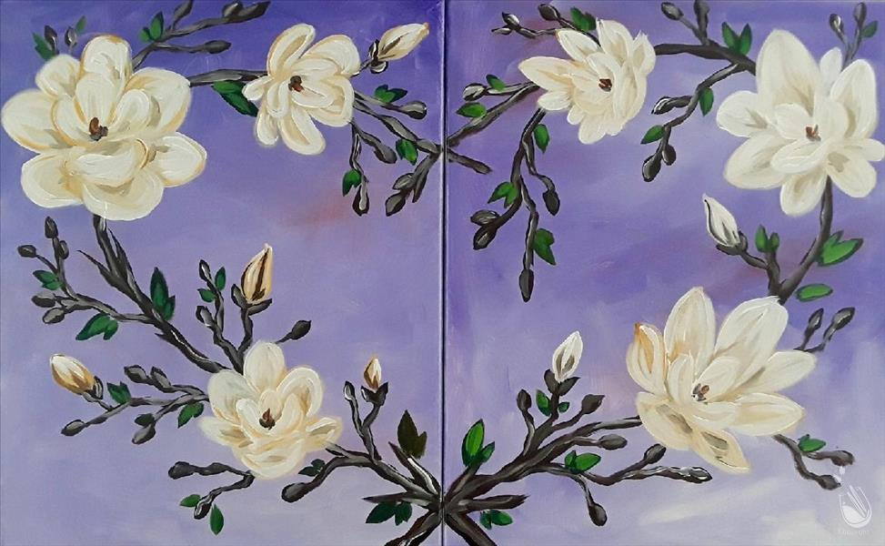 How to Paint Magnolia Branch - Manic Monday $100 off $37!!!!