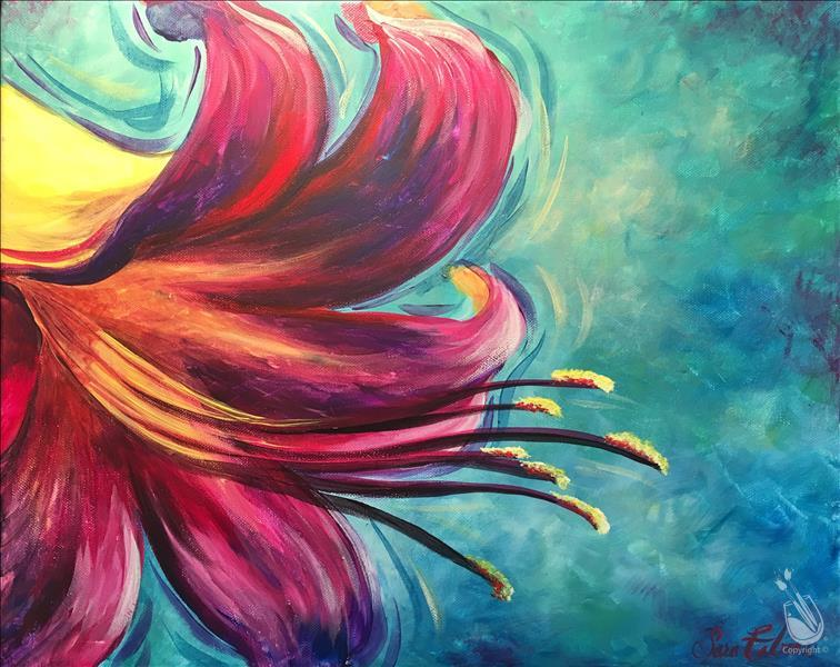 How to Paint Colorful Lily