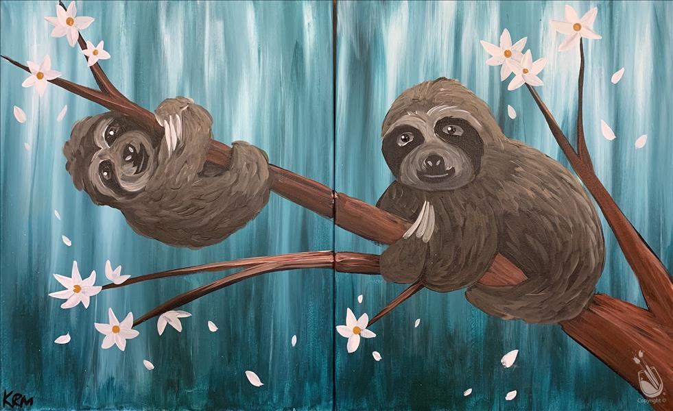 How to Paint Cute Sloths - Set (All Ages) **LIMITED SEATING**