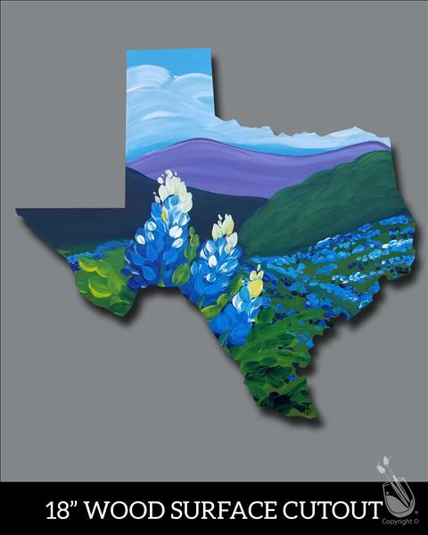 How to Paint Texas Bluebonnets Cutout